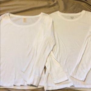 2 white tops